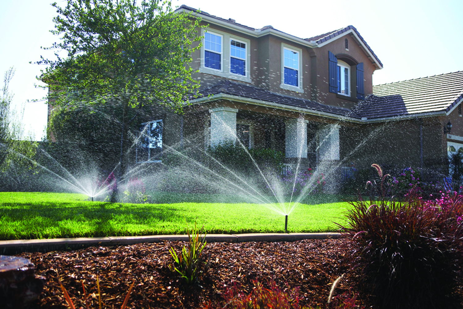 low flow sprinkler installation in sacramento